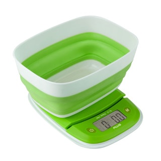 AWS Green Collapsible Countertop Digital Kitchen Scale