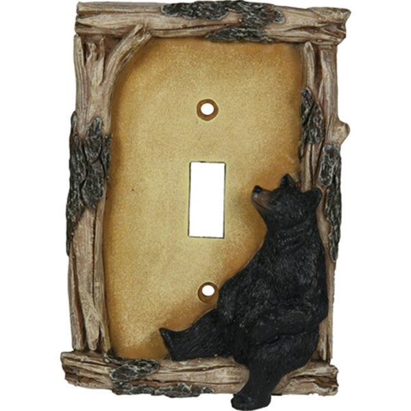 Rivers Edge Products Bear Single Lightswitch Plate Cover