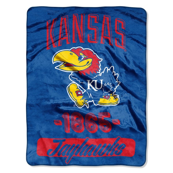 NCAA Kansas College Varsity Micro Throw Blanket