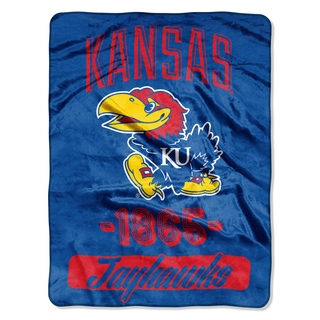 NCAA Kansas College Varsity Micro Throw Blanket