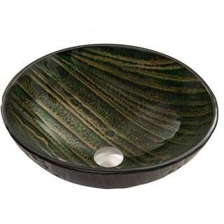 VIGO Green Asteroid Glass Vessel Sink