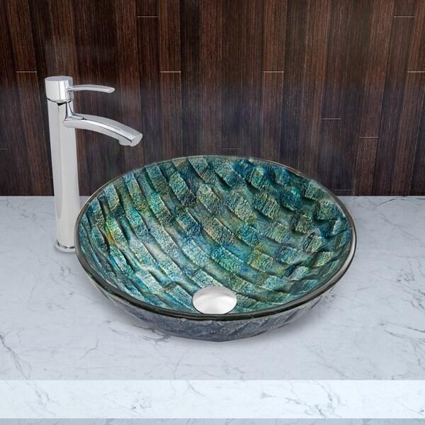 VIGO Oceania Glass Vessel Sink