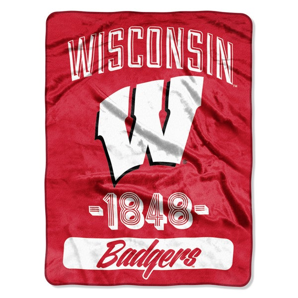 NCAA Wisconsin College Varsity Micro Throw Blanket