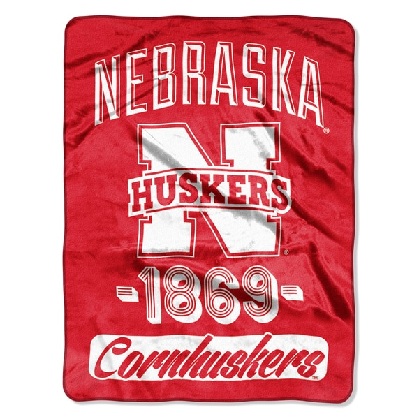 NCAA Nebraska College Varsity Micro Throw Blanket