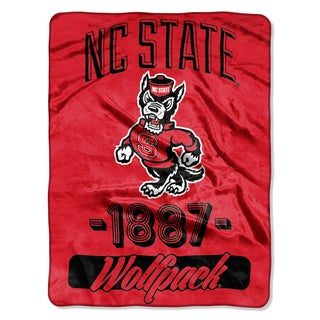 NCAA NC Wolfpack State College Varsity Micro Throw Blanket