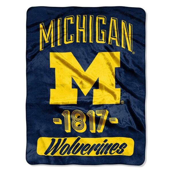 NCAA Michigan College Varsity Micro Throw Blanket