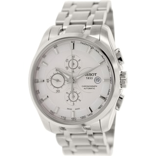 Tissot Men's Couturier T035.627.11.031.00 Silver Stainless-Steel Swiss Automatic Watch with Silver D
