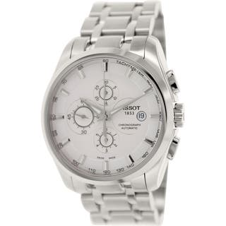 Tissot Men's Couturier T035.627.11.031.00 Silver Stainless-Steel Swiss Automatic Watch with Silver D|https://ak1.ostkcdn.com/images/products/9616069/P16801565.jpg?impolicy=medium
