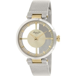 Kenneth Cole Women's KC4987 Silver Stainless-Steel Quartz Watch with Gold Dial