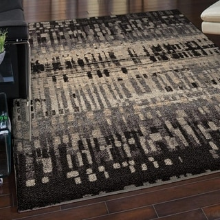Carolina Weavers Grand Comfort Collection Misty Black Area Rug