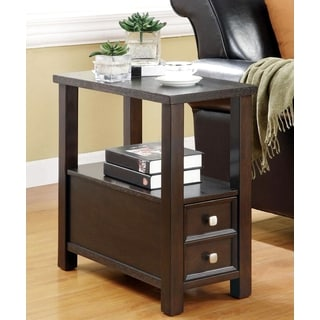Casual Accent Table with Storage Drawer and Shelf