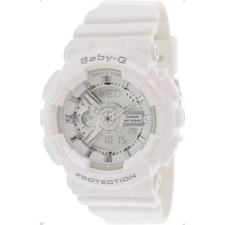 Casio Women's Baby-G BA110-7A3 White Resin Quartz Watch with Digital Dial