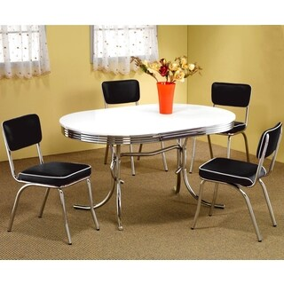 Hackensack Nostalgic Bistro Chrome Dining Set (2 options available)