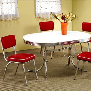Haverstraw Nostalgic Bistro Chrome Dining Set (2 options available)
