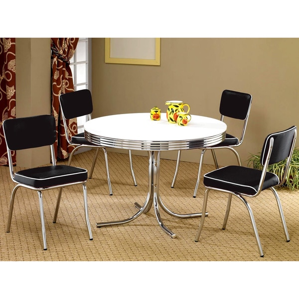 Monticello Nostalgic Bistro Chrome 5 Piece Dining Set