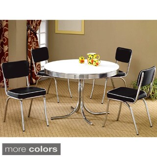 Monticello Nostalgic Bistro Chrome 5-piece Dining Set