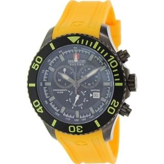 Swiss Military Hanowa Men's 06-4226-13-007-11 Orange Rubber Swiss quartz Watch with Black Dial
