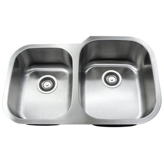Golden Vantage 31-Inch Double Bowl 0S-GVVU3120A2R9 Stainless Steel Undermount Kitchen Sink