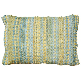 LNR Home Contemporary Blue Yellow 16 x 24 Throw Pillow