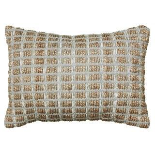 LNR Home Contemporary Pillow Grey Square 18-inch Decorative Throw Pillow