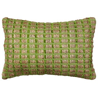 LNR Home Contemporary Green 16 x 24 Throw Pillow