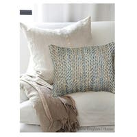 LR Home Contemporary Light Blue 16 x 24 Throw Pillow