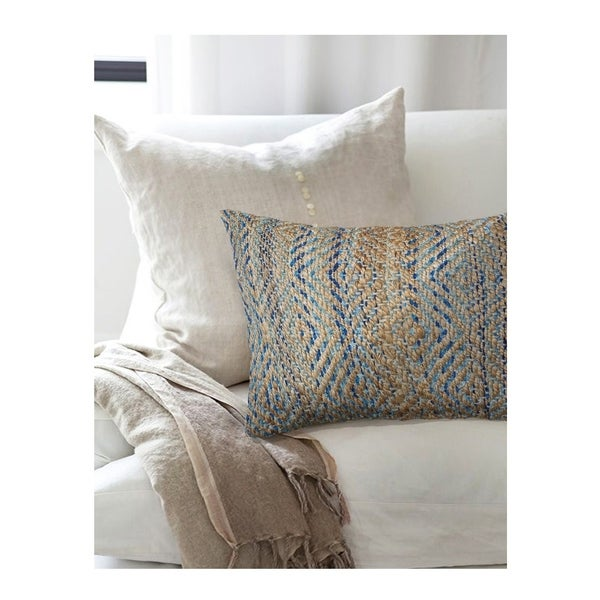 Shop Lr Home Contemporary Blue 16x24 Inch Throw Pillow
