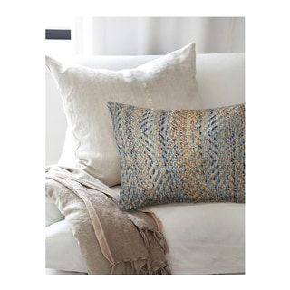 LNR Home Contemporary Blue 16x24-inch Throw Pillow