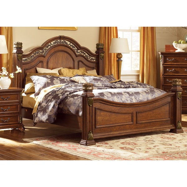 Messina Estates Poster Bed Set - Free Shipping Today - Overstock ...