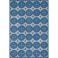 Hand-hooked Meadow Ivory/ Blue Wool Rug (7'10 x 11'0) - 7'10 x 11'