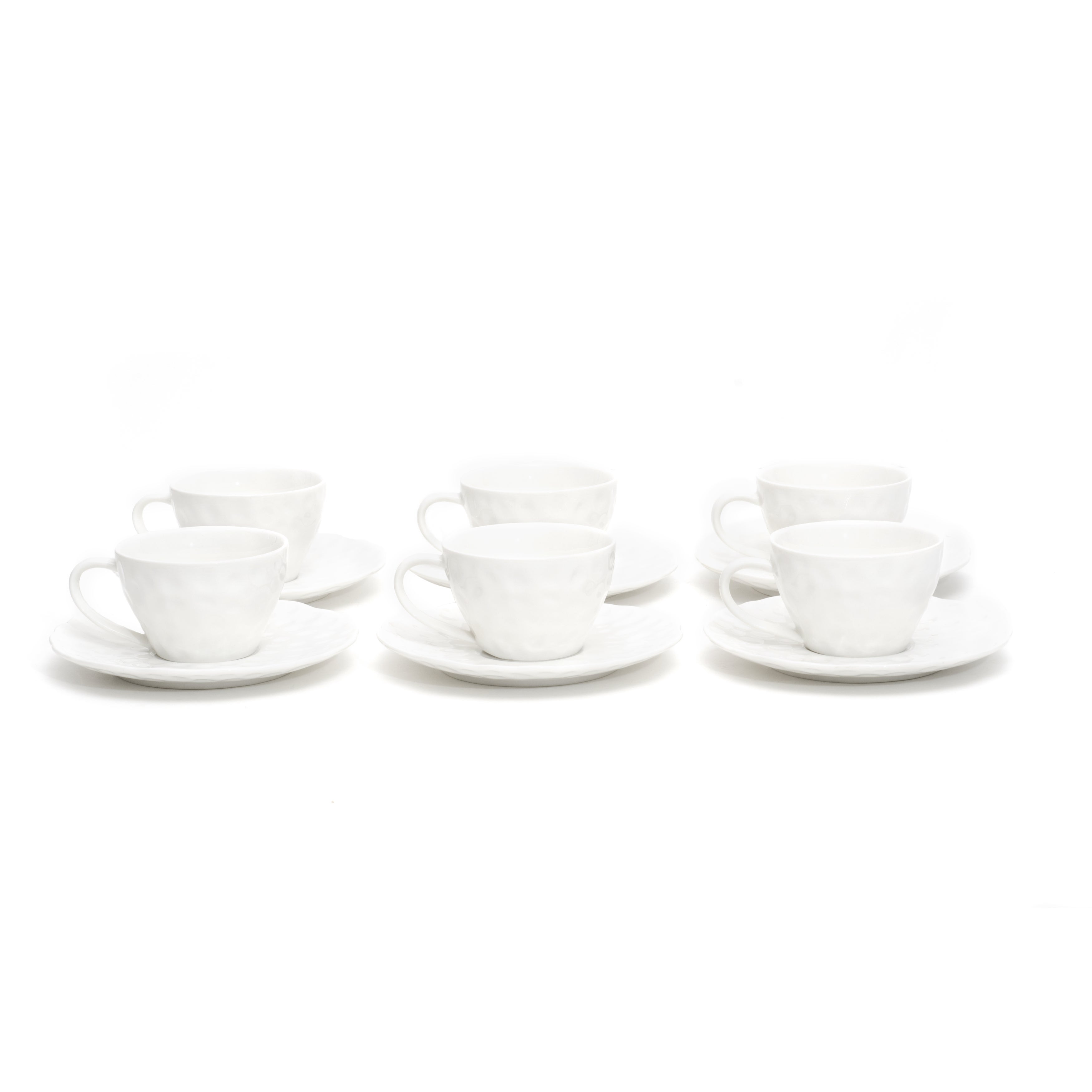Red Vanilla Marble Cup And Saucer Set Of 6 Overstock 9616378