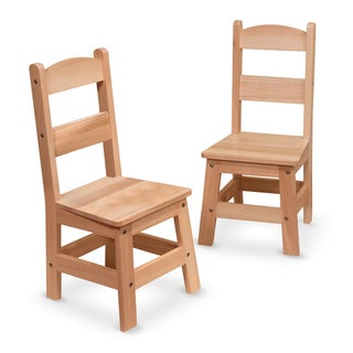 Melissa & Doug Kid's Wooden Chair Pair