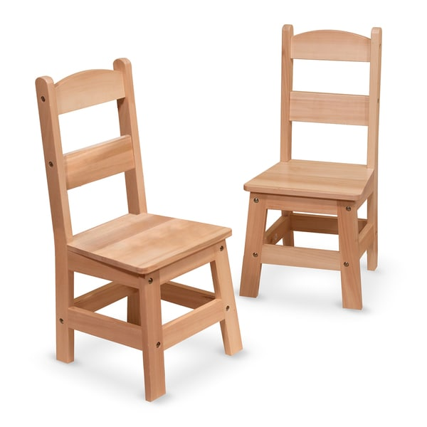 Melissa & Doug Kid's Wooden Chair Pair