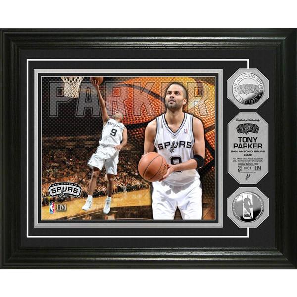 NBA Tony Parker Silver Coin Photo Mint