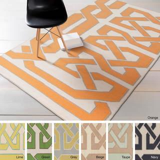 Hand-woven Ilkeston Reversible Wool Rug (3'3 x 5'3)
