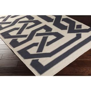 Hand-woven Ilkeston Reversible Wool Rug (2' x 3')
