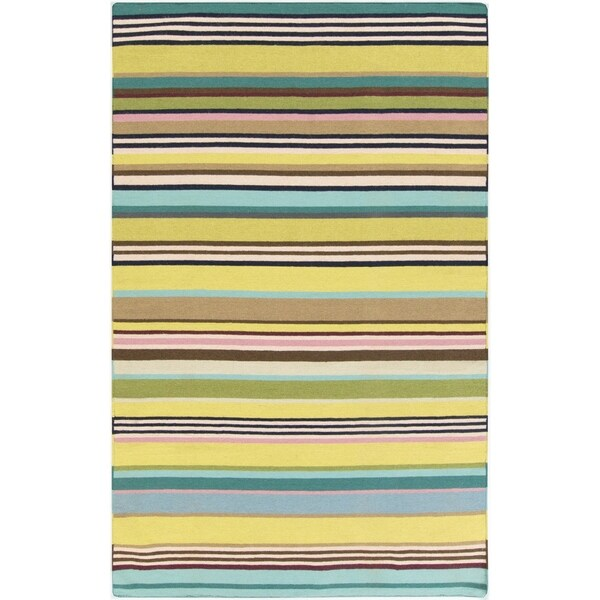 Hand-woven Bree Reversible Wool Area Rug - 2' x 3'