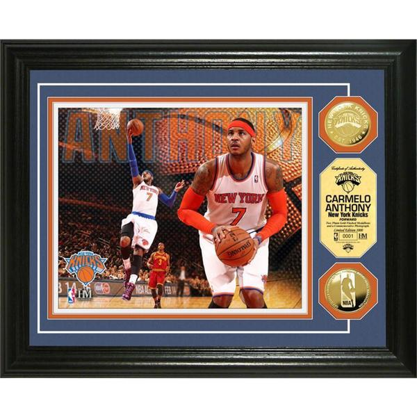 NBA Carmelo Anthony Gold Coin Photo Mint