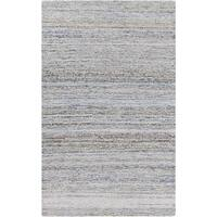 Hand-hooked Valerie Abstract Cotton and Wool Area Rug