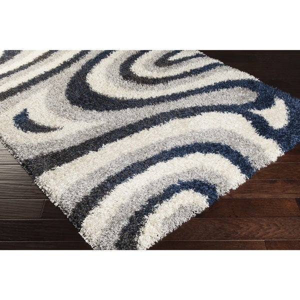 Shop Meticulously Woven Bezon Abstract Shag Rug (2' X 3