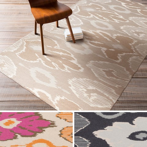 Flatweave Hand-woven Ampthill Reversible Wool Area Rug