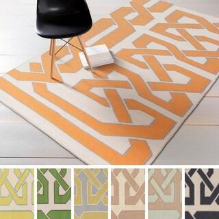 Flatweave Hand-woven Ilkeston Reversible Wool Rug (8' x 11')