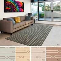 Flatweave Nadi Reversible Wool Area Rug (9' x 13')