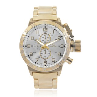 Territory Men's Chronograph Stainless Steel Link Bracelet Watch