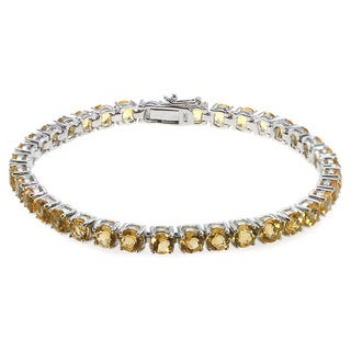 De Buman Sterling Silver Natural Citrine, Peridot, Amethyst or Multi-colored Gemstones Bracelet