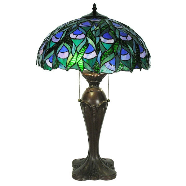 tiffany style zamara table lamp free shipping today. Black Bedroom Furniture Sets. Home Design Ideas