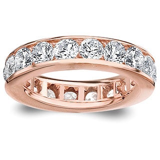Amore 14k or 18k Rose Gold Channel-set Diamond Wedding Band (G-H, SI1-SI2)