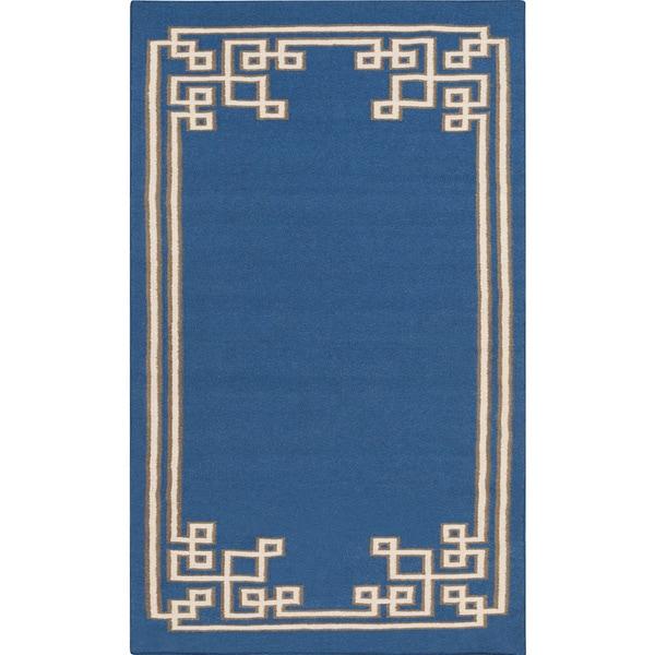 Hand-woven Omar Reversible Wool Area Rug (5' x 8')
