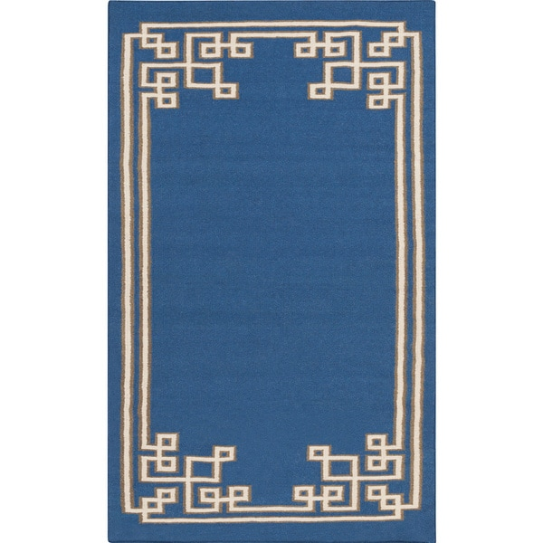 Hand-woven Omar Reversible Wool Rug (5' x 8')