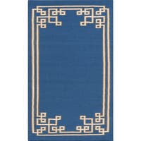 Hand-woven Omar Reversible Wool Area Rug - 5' x 8'
